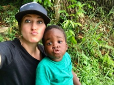 First selfie! Kid's a natural!